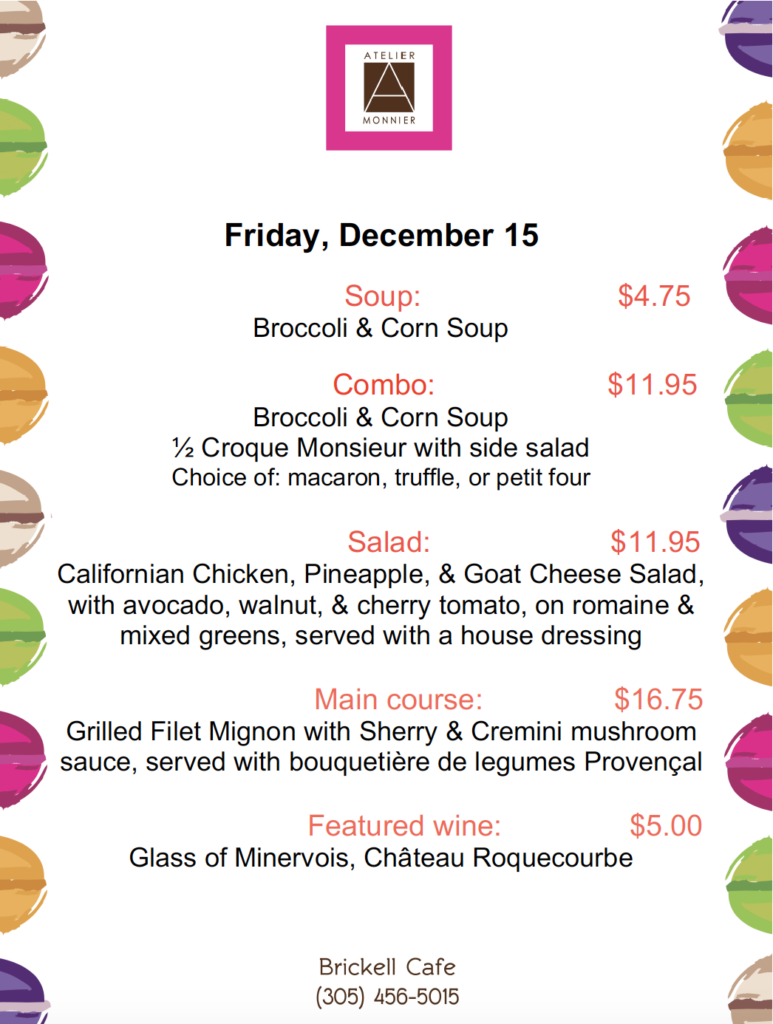 Lunch Specials of the Week