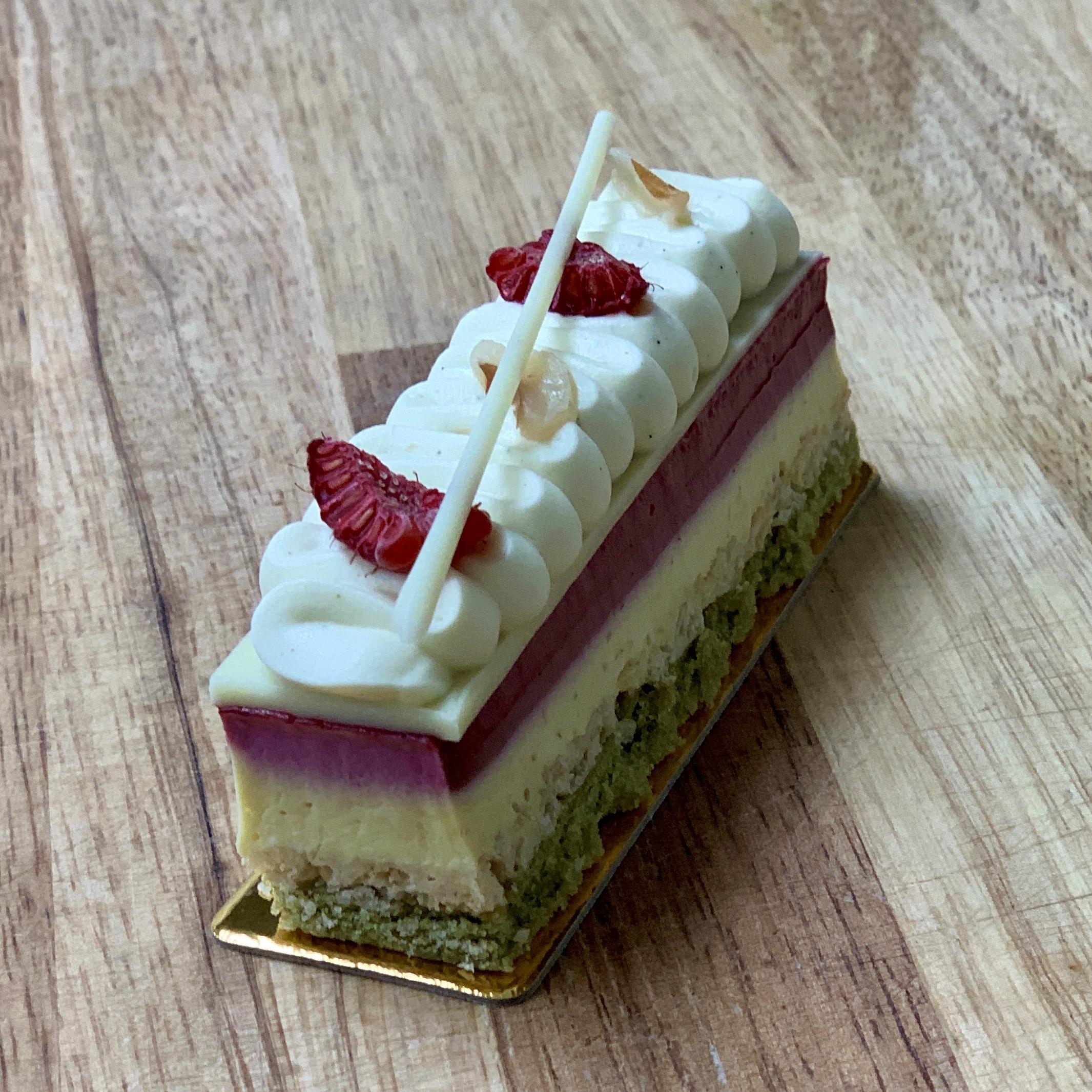 Valentine's day special cake raspberry lychee napoleon, valentine's day sweet, valentine's day cake, valentine's day gift, valentine's day gift ideas, atelier monnier french bakery miami